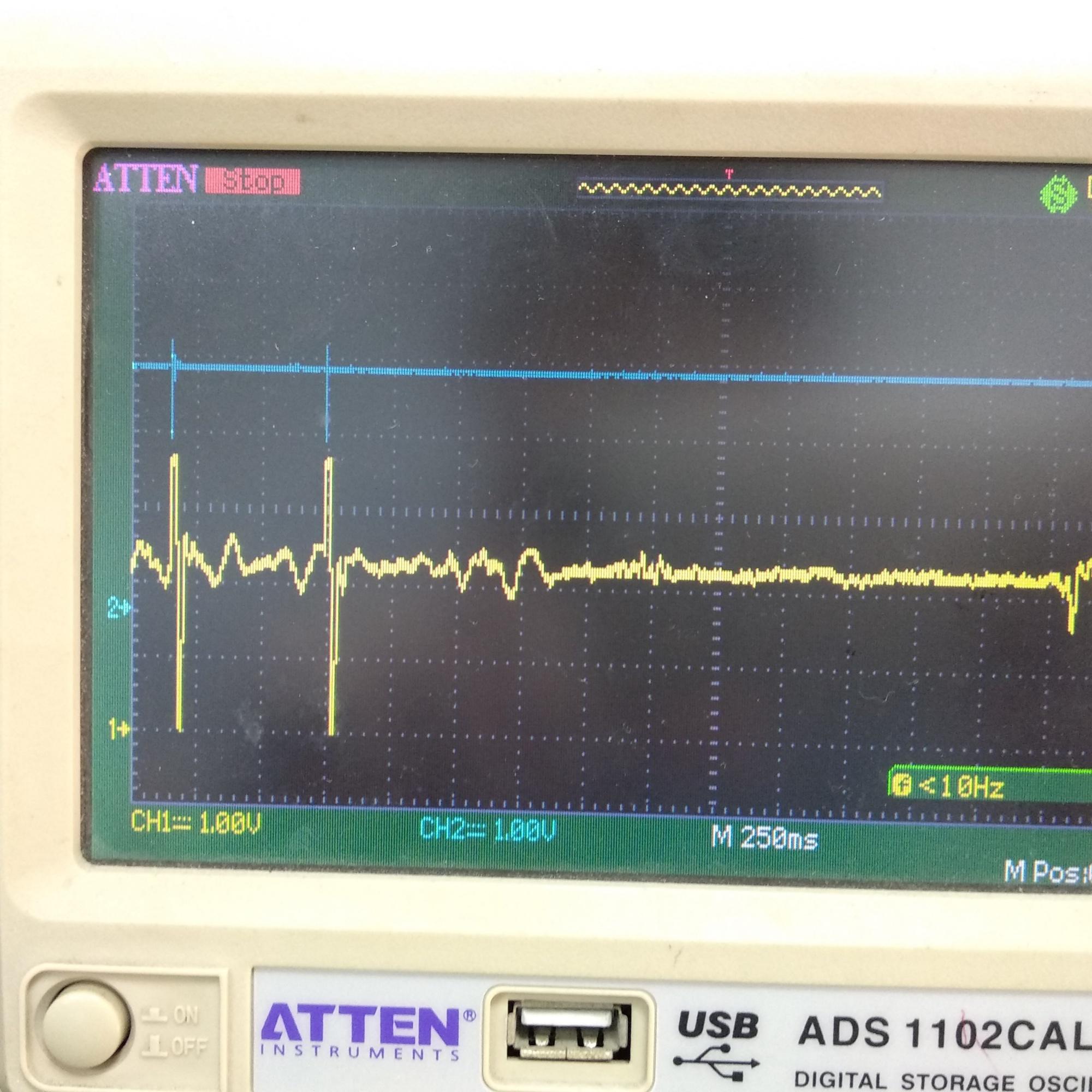 传感器信号被干扰