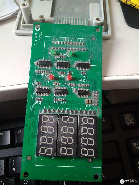 变频器外部重新做了一块控制板,求大神分析原理
