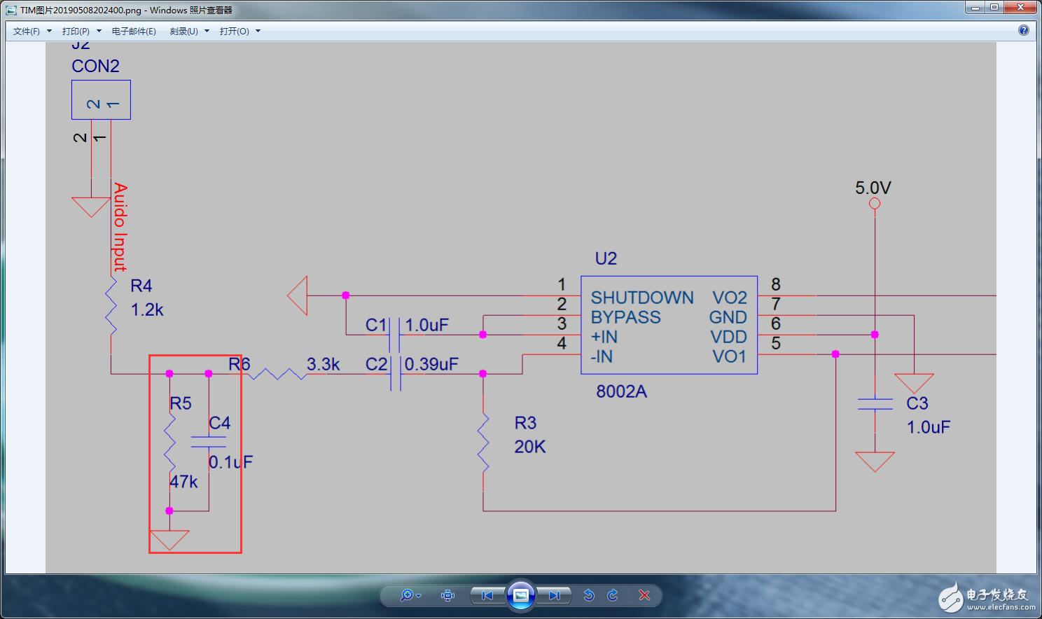 8002A音频功放电路请问图中R4和C4起到什么作用 电路设计论坛图片