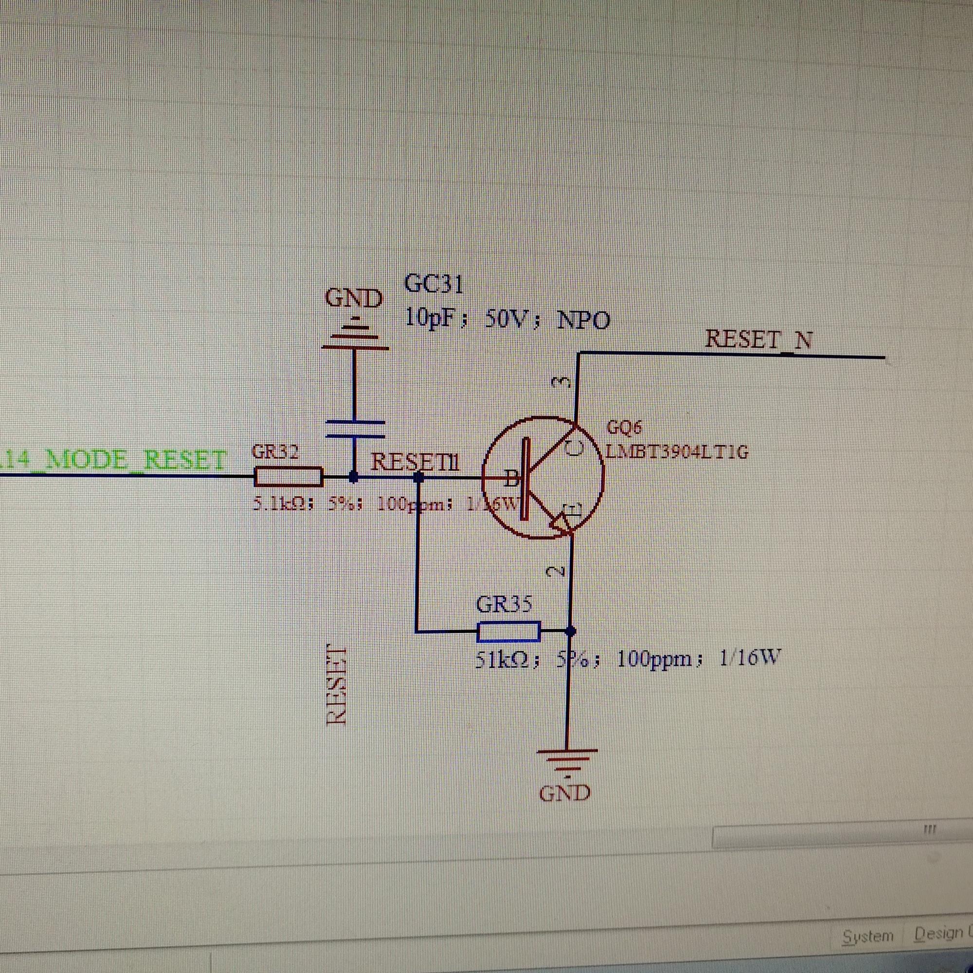 三极管开关电路输出波形异常问题