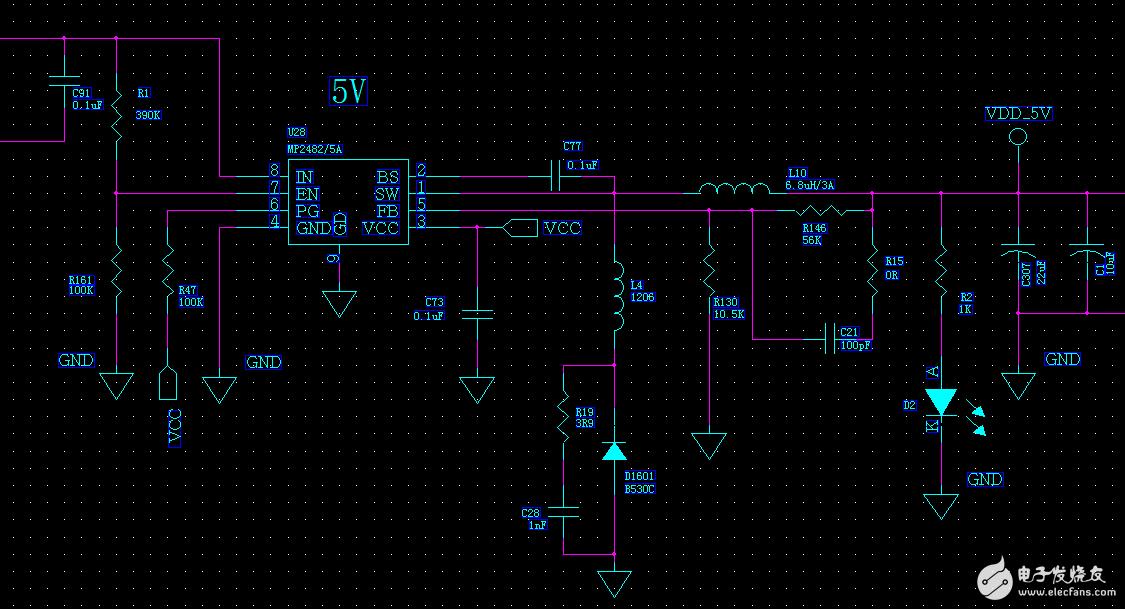 谁用过mp2482电源芯片,emc的re可以过吗?