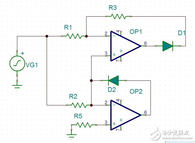 请问这个运放电路OP1是怎么工作的?