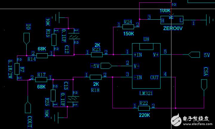 运放电路电流采样放大倍数不对是什么原因?