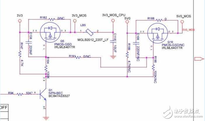 請教MOS管作電源控制電路時測量的波形分析