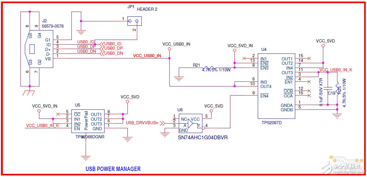 请帮忙解析一下关于原理图处理器和USB电源部分的电路疑问