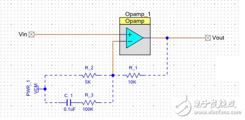 请教,同相放大电路中的电阻和电容起什么作用?