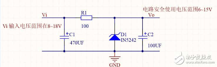 请教稳压管稳压输入电压的设计是否可以可行?