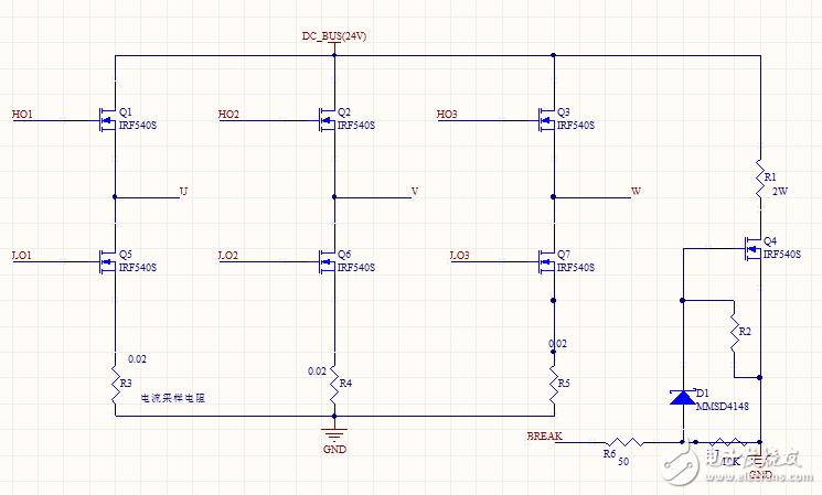 請看圖,電機驅動電路多出來的一個功率管的作用是什么?