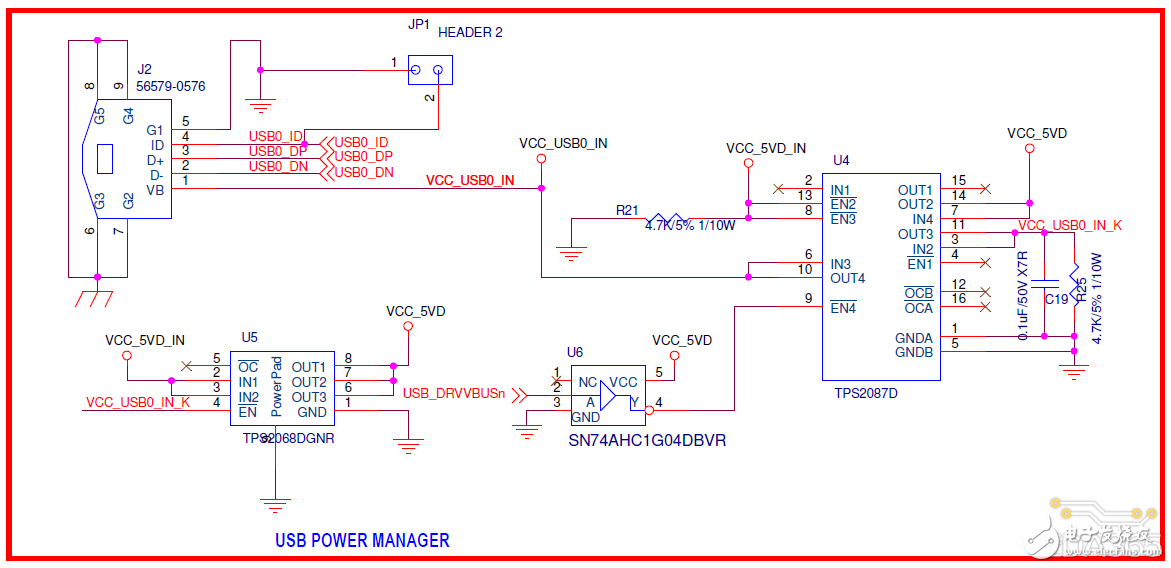 请教电路图中处理器和USB电源部分的原理?