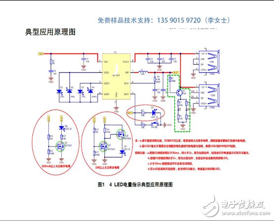 KF5933 2.1A充电2.4A放电高集成度移动电源SOC