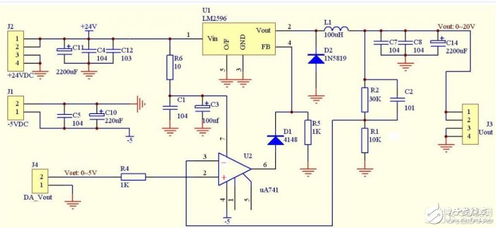 有两个程控恒压电路,请问这两个电路的区别是什么?