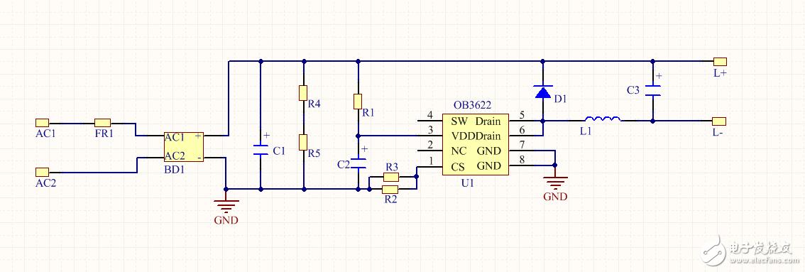 昂宝OB3622系列芯片做LED恒流源驱动的电感怎么计算?