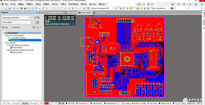 基于fpga的图像处理基础开发板pcb工程分享