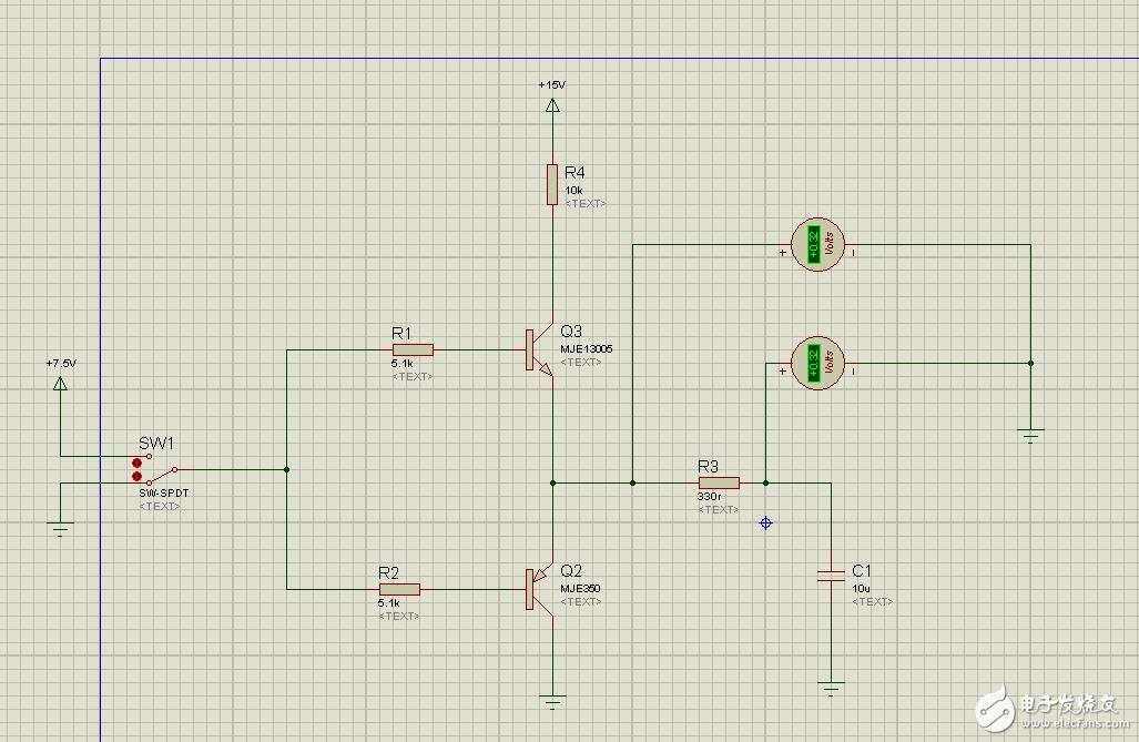 关于推挽电路中三极管C端的疑问