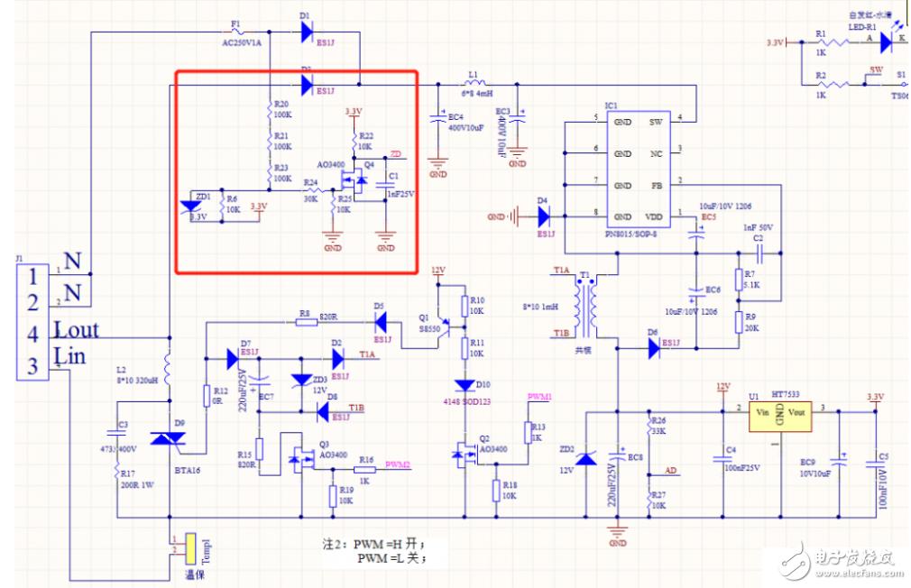 PWM调节双向可控硅的调光电路功率不稳定,请教解决方法?