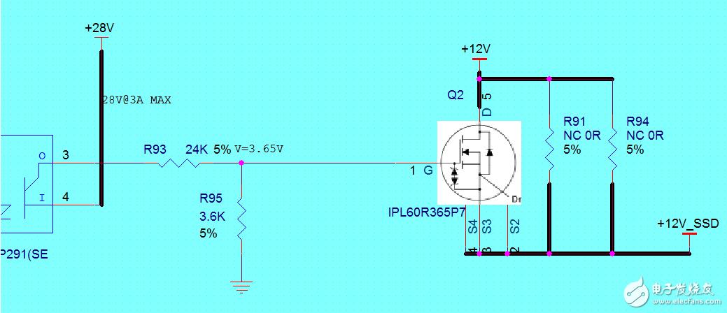 分压电路MOS管容易损坏,请问设计有什么问题?