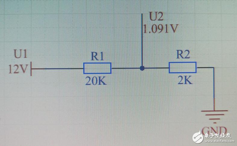 电阻分压  R1 R2 阻值计算 有公式最好