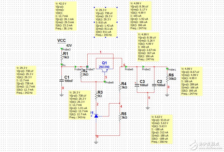 为什么三极管的C,E反接后此电路还能导通