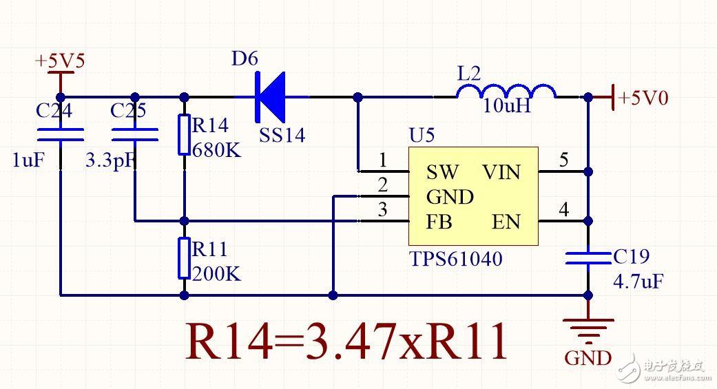 关于TPS61040电路无法升压的原因是什么?