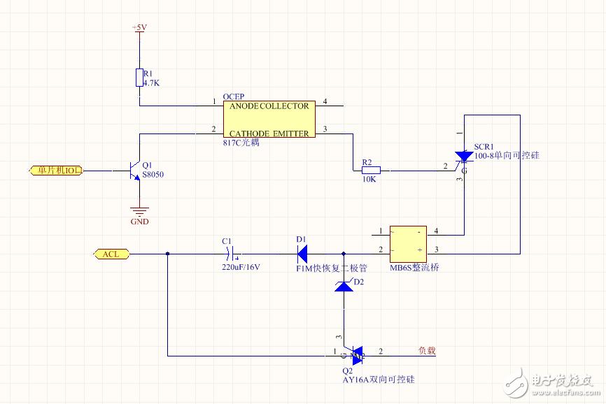 请问单片机怎么控制光耦来导通可控硅使负载灯泡亮灭