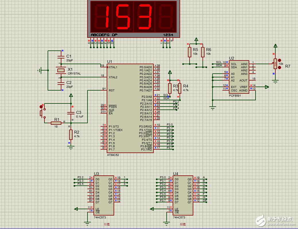 51单片机模拟IIC通信,实现基于PCF8591的A/D转换