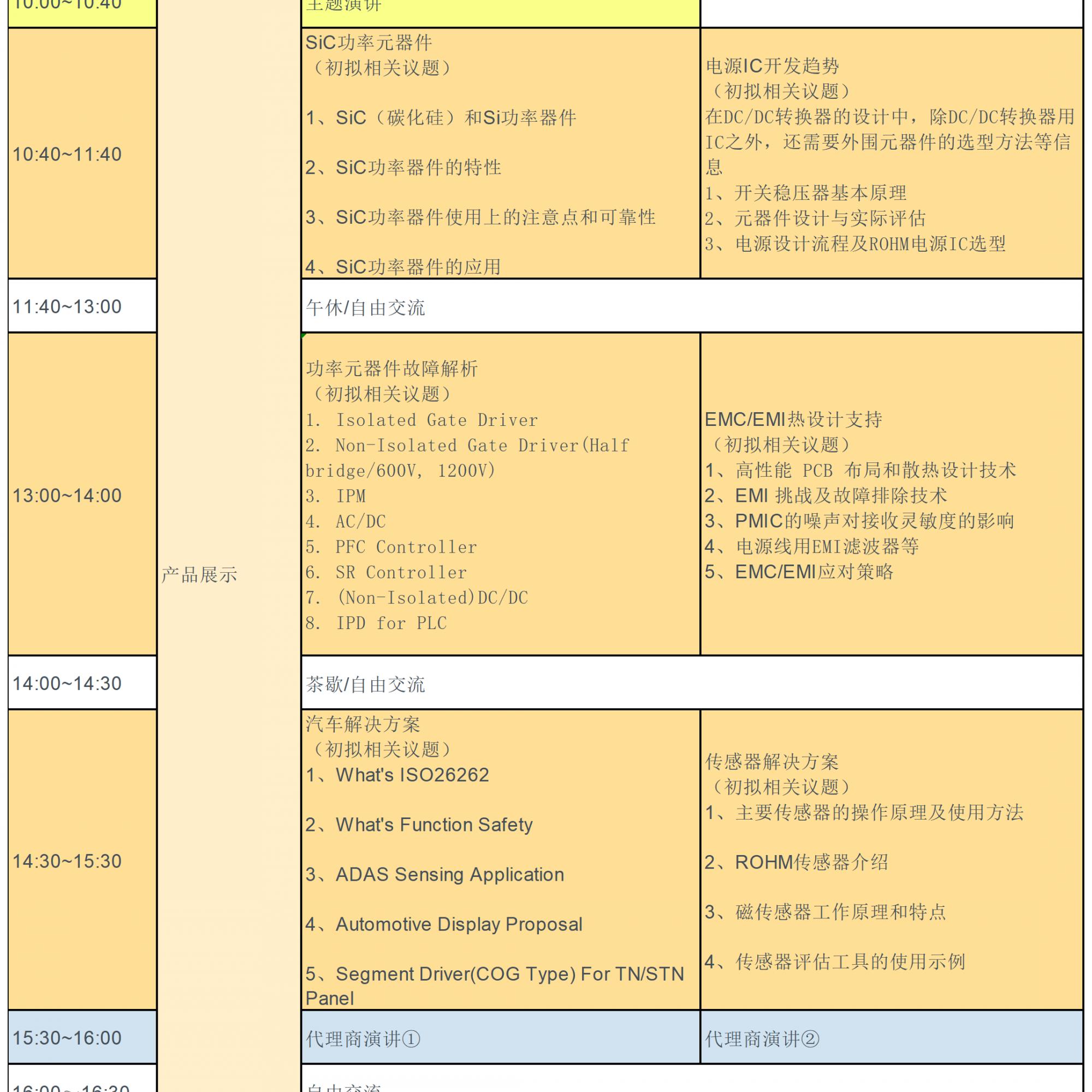 【2019ROHM科技展】:4大展区+6场技术研讨会,邀您免费参会赢豪礼!(总价值超过10000元)