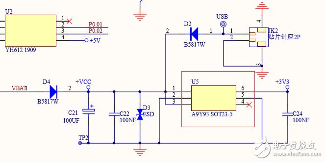 有一个板子上电源电路,丝印是A9Y93,一直不知道是哪家的芯片,也不确定是DCDC电路还是LDO