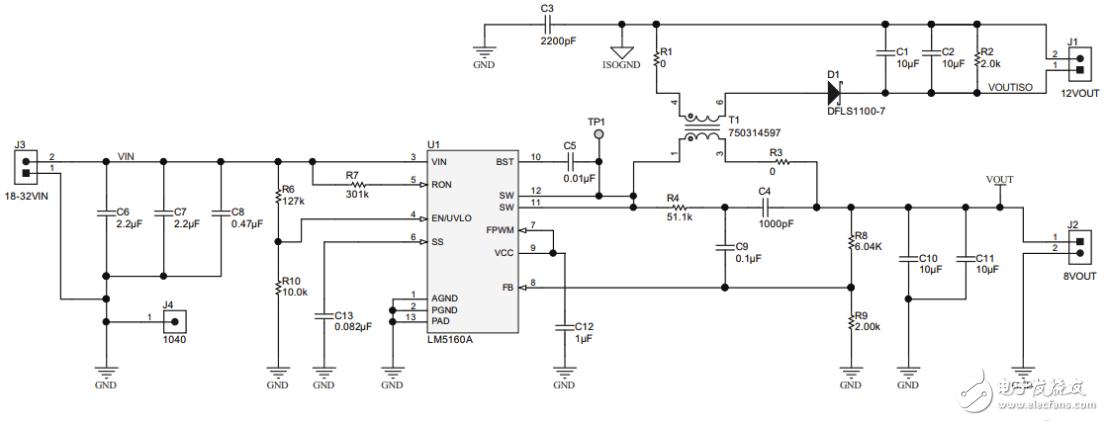 【每日电路赏析】反激变换器电路