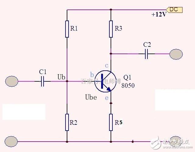 【求助】三极管发射极接的反馈电阻为什么不会抑制由于信号源干扰引起的Ib变化?