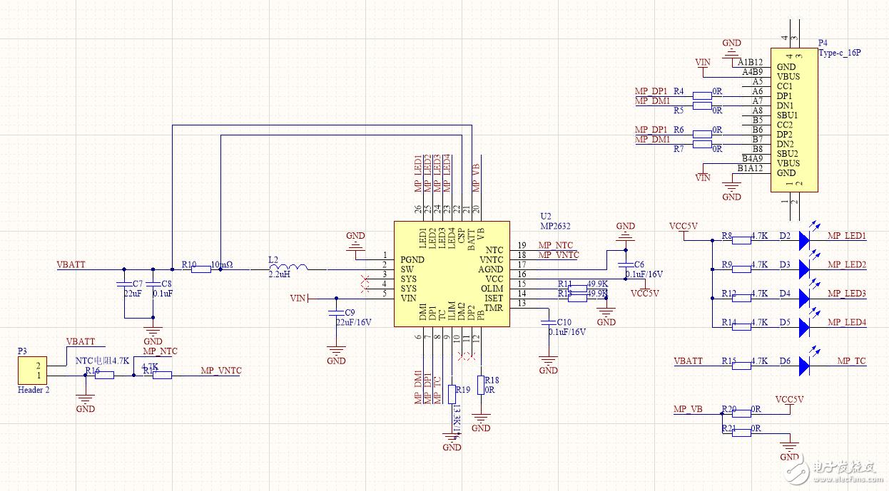 5V3A快充芯片MP2632,用的是5V2.4A充电插头,为什么P3端只能输出不到1A