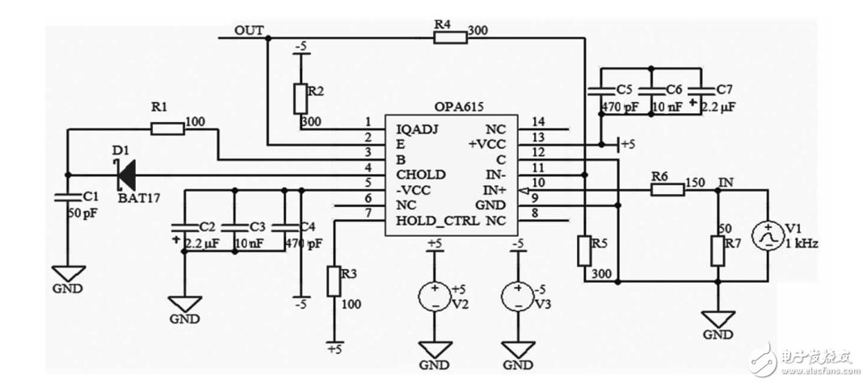 关于OPA615峰值保持电路