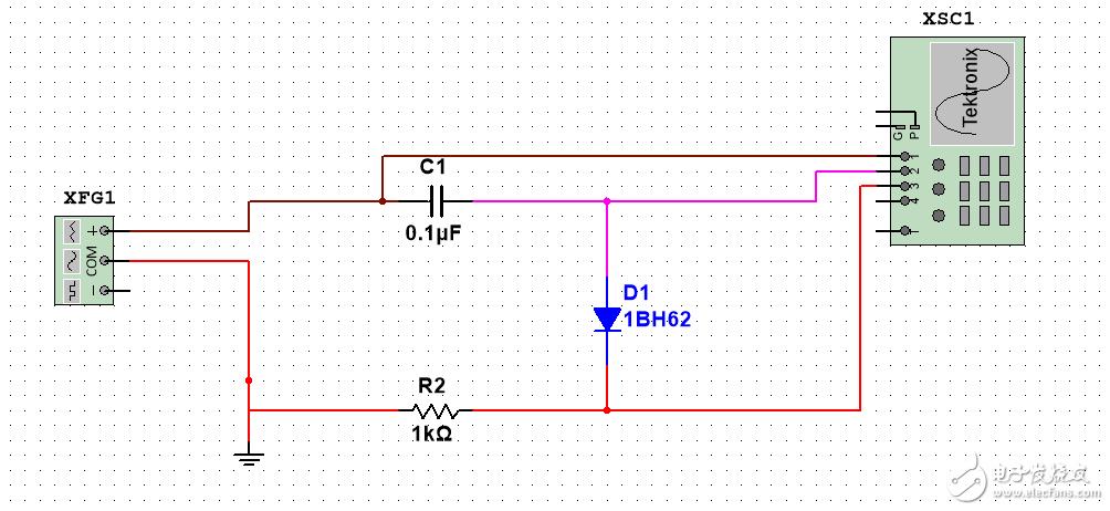 电容串联二极管波形疑问?