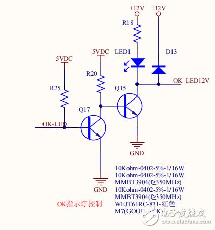 各位大佬,这个电路有哪一部分是在OK-LED无信号时通路,OK-LED给一个低电平信号就断开的吗?