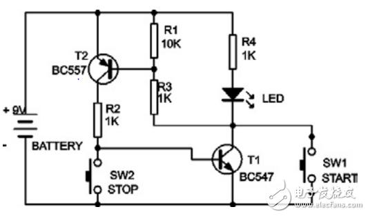 LED开关电路中这个电阻有什么作用?