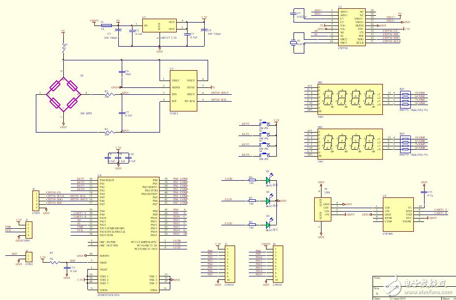 STM32压力传感器信号采集-24位AD HX720 HX711 CS5530 CS5532 C#上位机