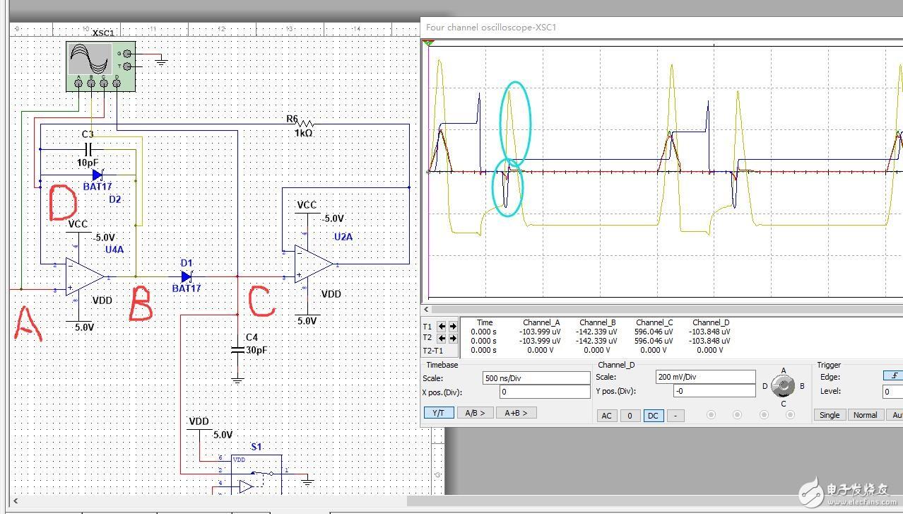 模拟峰值保持电路放电问题