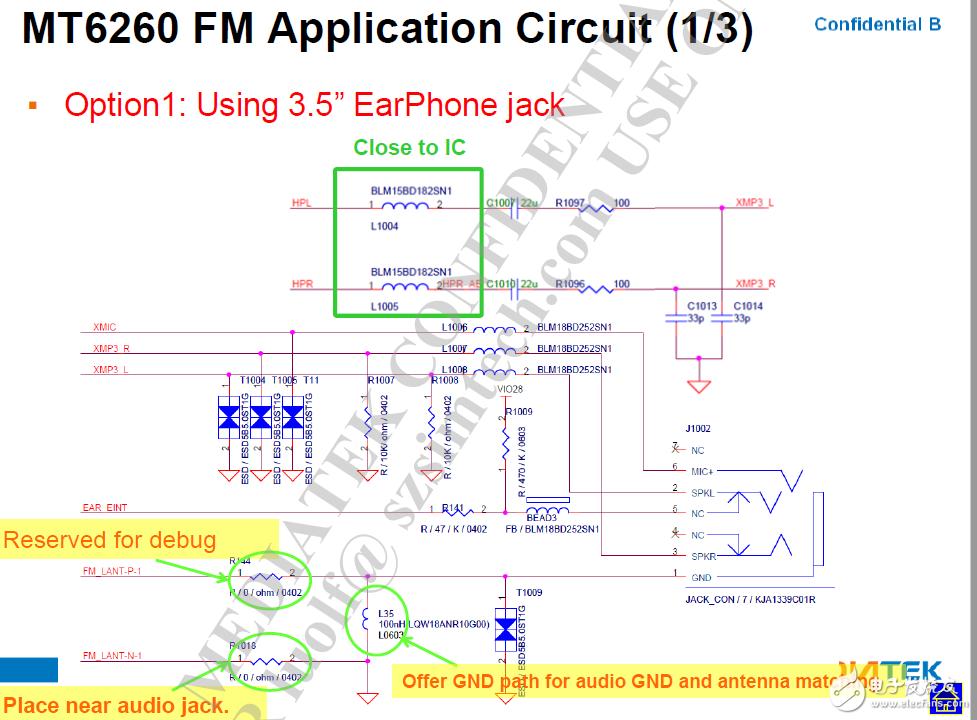 耳机做天线的电路怎么实现?