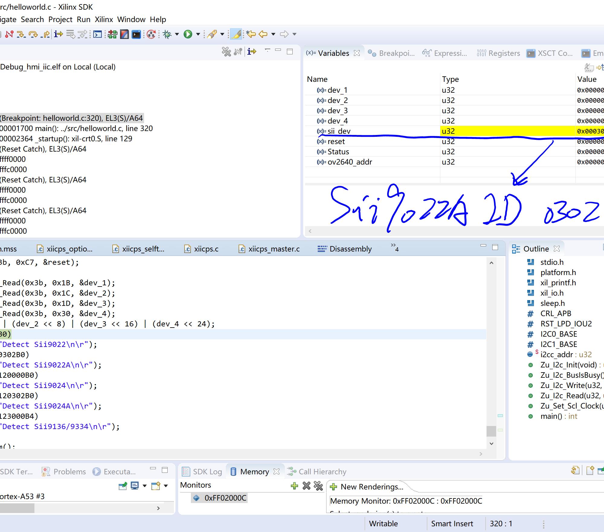 【MYD-CZU3EG开发板试用体验】【图像篇】 Sii9022的IIC操作