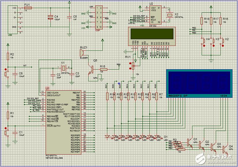 【项目分享】LCD1602+DS1302基于单片机设置的智能时钟