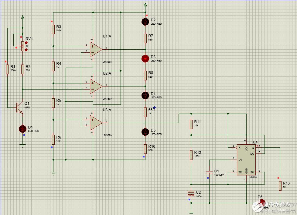 晶体管β参数测试电路的设计,如何用Proteus仿真?用液晶屏显示?