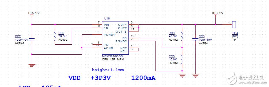 使用MPM3810,输出会异常下降到1.8V左右