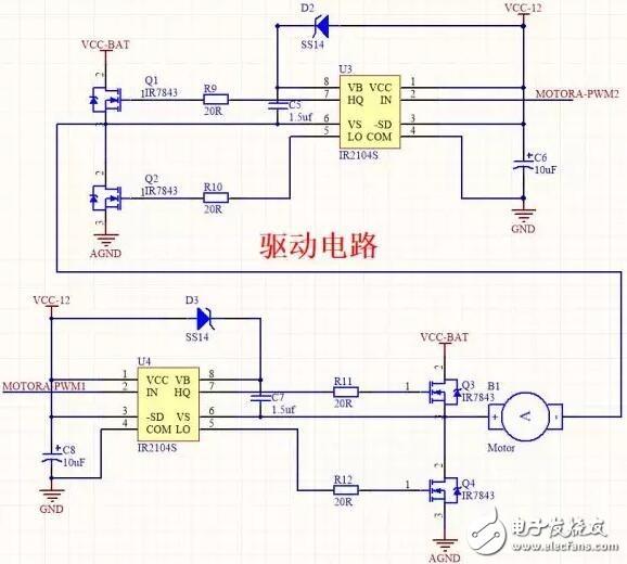 MOS电机驱动电路及电机驱动电路的设计
