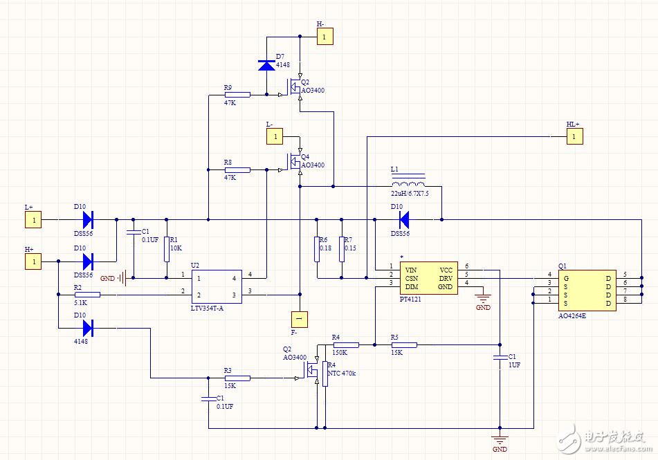 LED驱动电路当H+输入12V电压时,灯珠闪烁异常问题