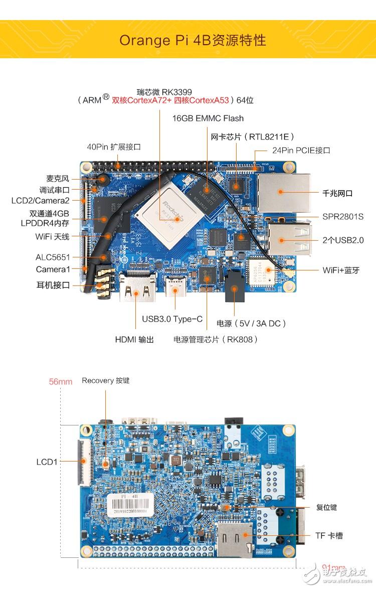 香橙派Orange Pi 4/4B 开发板的PCIE接口测试