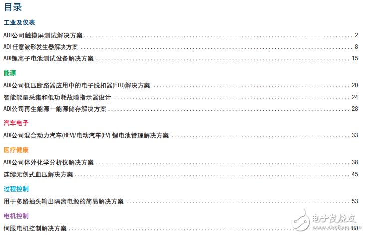 ADI實用方案手冊(儀qian)懟 neng)源(yuan)、電機控制(zhi)等)