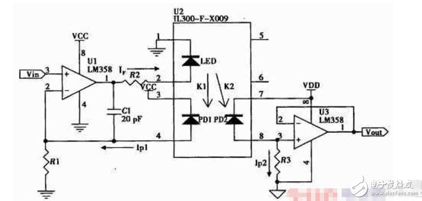 线性光耦电路中关于电压与电流关系的疑问