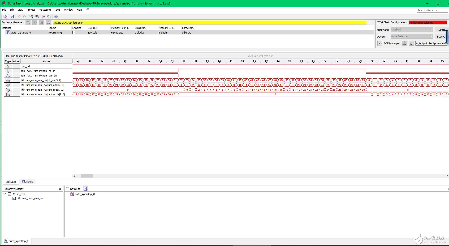 【雨的FPGA笔记】基础实践-------IP核中RAM的使用