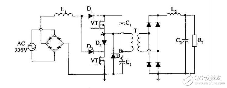毕业设计,请给我讲解讲解一下,下图电路图(DCM控制的BOOST式PFC变换器)的运行原理。