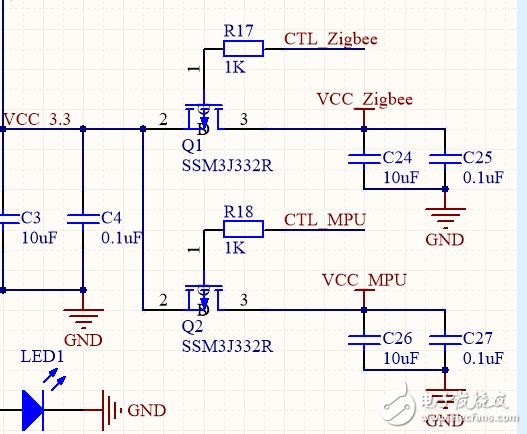 求解关于PMOS开关电路的电压问题