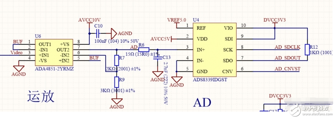 如图运放电路信号需要放大多少倍传进AD里才能正常工作?